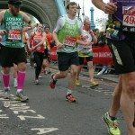 A flattering photo at Tower Bridge on Mile 12