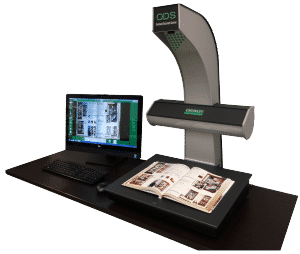 Crowley ODS book scanner with monitor