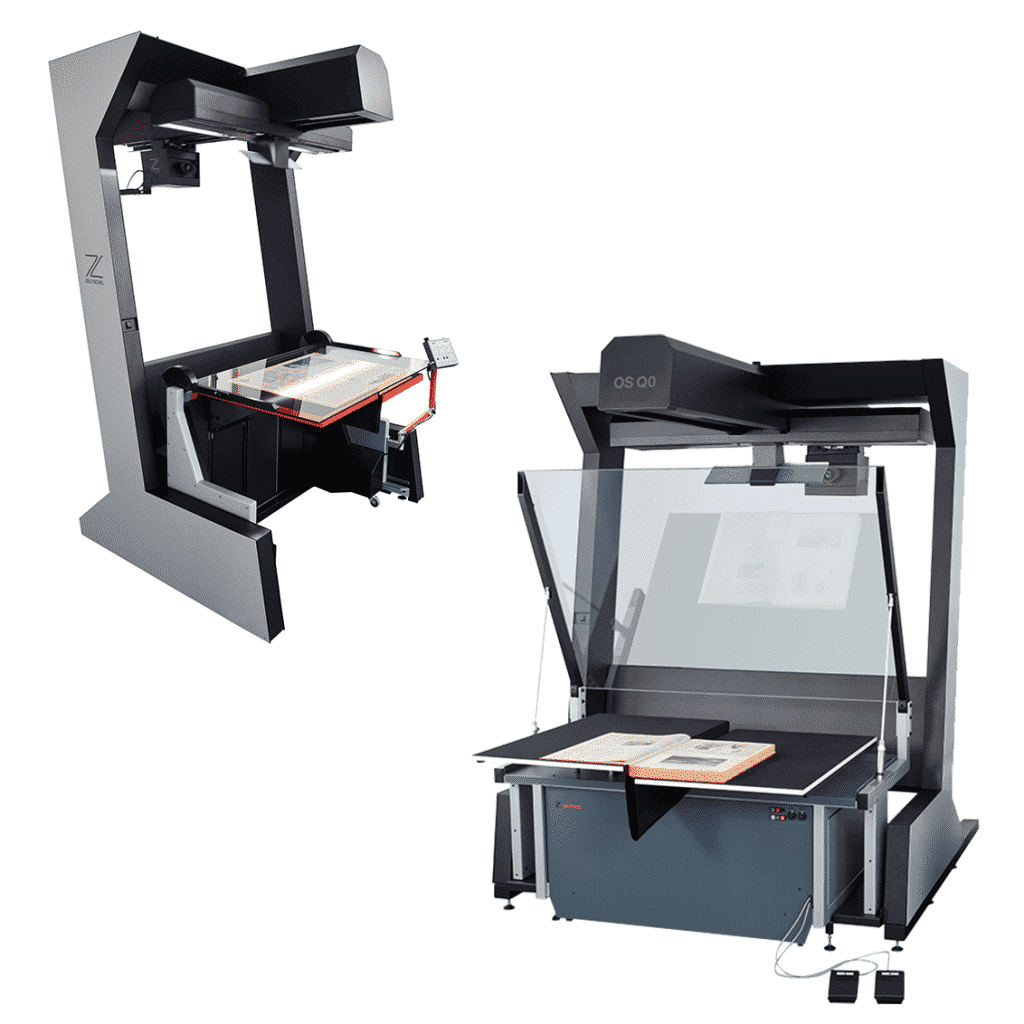 overhead large format book scanner