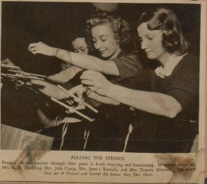 Junior League Marionette Show newspaper clipping was digitized to preserve women's history
